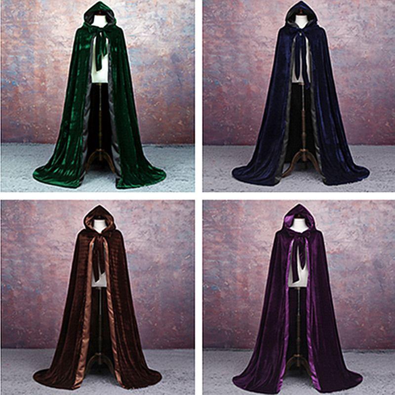 Adult Vampire Cape Hooded Cloak Gothic Vampire Wicca Robe Medieval Larp Cloak