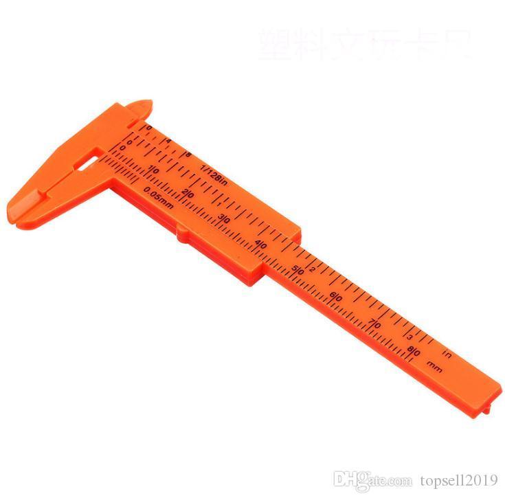 Пластиковые измерительные инструменты мини штангенциркули 1 мм / мини линейка микрометр калибр 80 мм длина штангенциркули измерения SN1094
