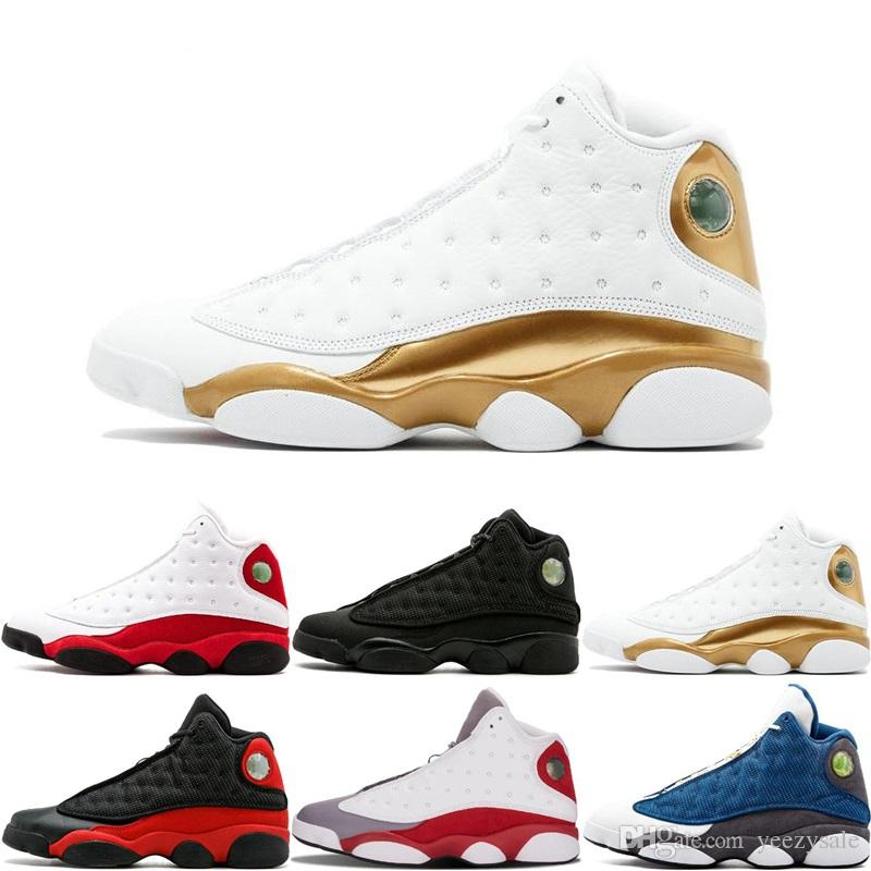High Quality 13 Women Shoes XIII 13s Men Basketball Shoes Women Bred Black Brown White Hologram flints Grey Sports Sneakers US5.5-13