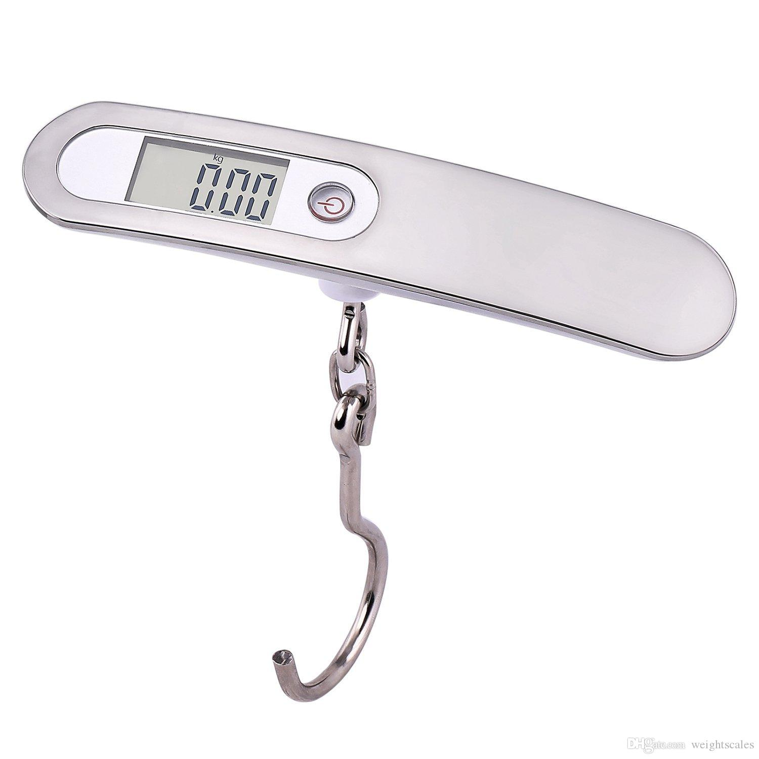 50kg//10g Digital Hanging Luggage Scale Electronic Luggage Scale Digital Scale with Hook LCD Display for Outdoor Kitchen