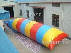 Livraison Gratuite Sushan Jouet 8x3m Gonflable Eau Blob Eau Trampoline Bouncing Oreillers Lits Flottants Gonflable Jumping Oreiller Envoyer