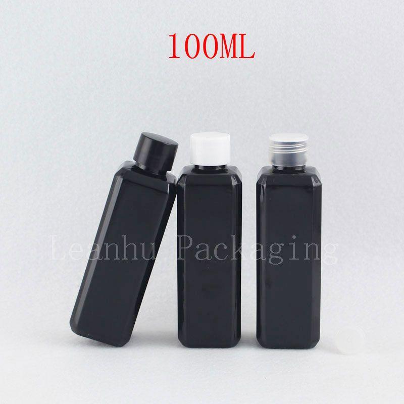 100ml black square bottle with screw cap (1)