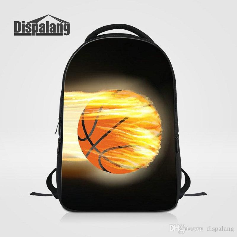 Travel Laptop Backpack Flames Baseball Pattern Multi-functional Student Travel Outdoor Backpack