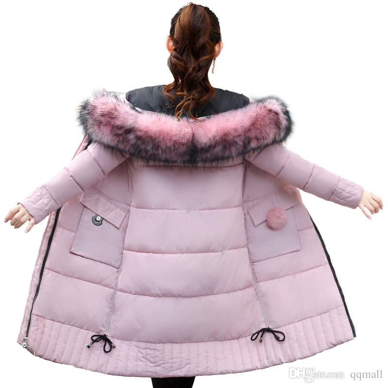 New Long Parkas Female Womens Winter Jacket Coat Thick Cotton Warm Jacket Womens Outwear Parkas Plus Size Fur Coat