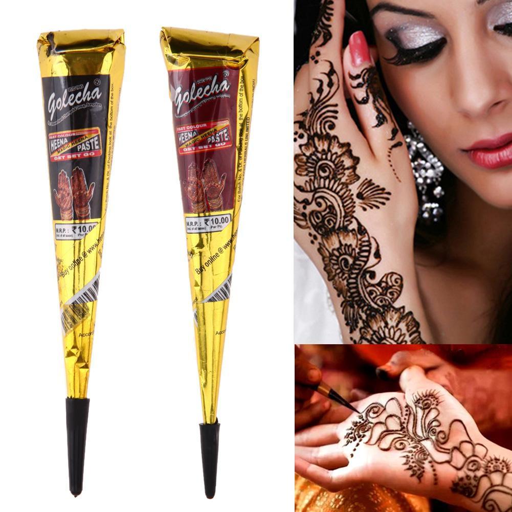 Body Art Sexy Painting Mini Natural Indian Tattoo Paste Harajuku Waterproof Temporary Henna Flash Tattoos Halloween Party Makeup