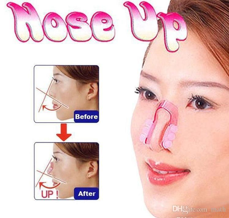 1000Pcs Bridge Straightening Shaping Lifting Nose Up Clip Silicon Gel Beauty Nose Shaper For Nose Massage free shipping