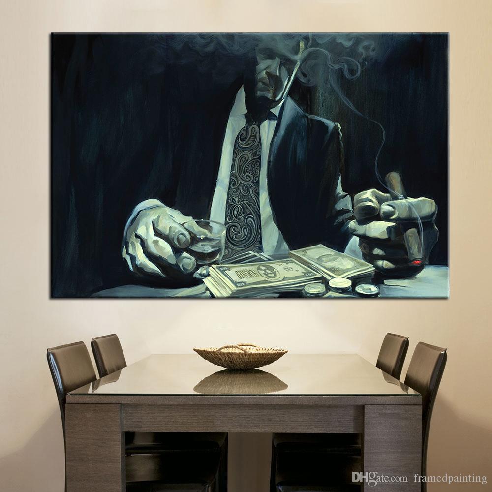 1 Pcs Wall Art Canvas Le Mur Gambler Photos pour Chambre Décor À La Maison Décoratif Photos No Frame