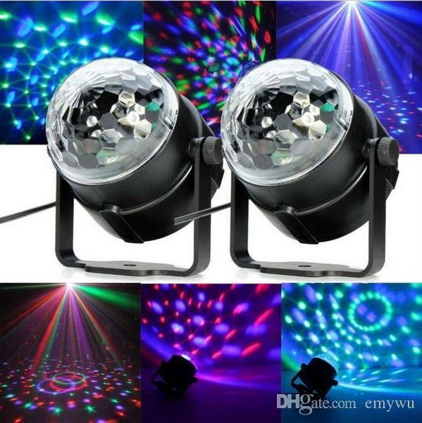 Mini RGB LED Crystal Magic Ball Scena Efekt Lampa Lampa Żarówka Party Disco Club DJ Light Pokaż oprawę