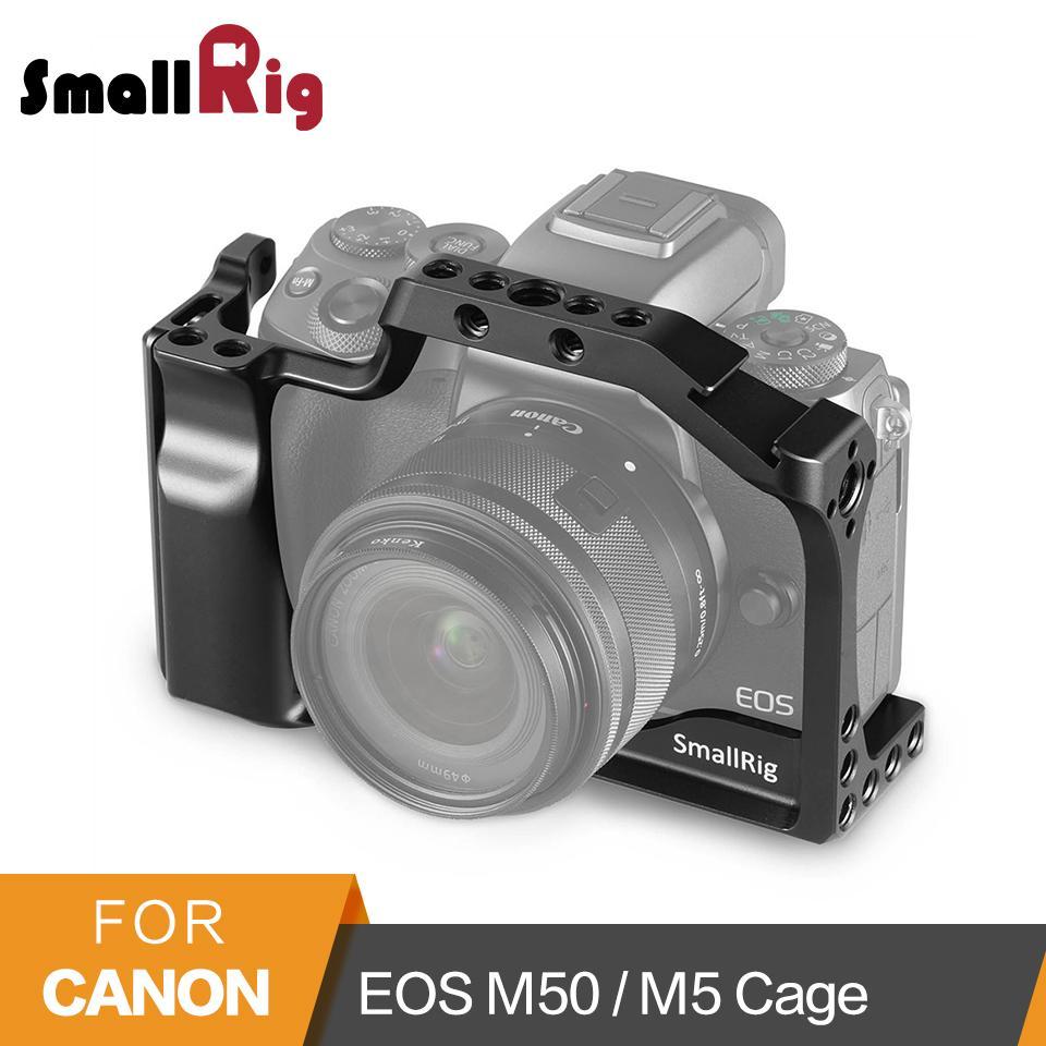 Venda Por Atacado Gaiola da câmera DSLR para Canon EOS M50 / M5 gaiola com Nato Rail Cold Shoe Mount Para Quick Release Attachment 2168
