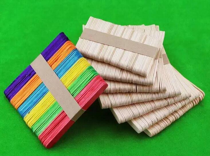 500 pcs diy madeira original artesanato varas picolé varas de sorvete varas decorações do partido de madeira
