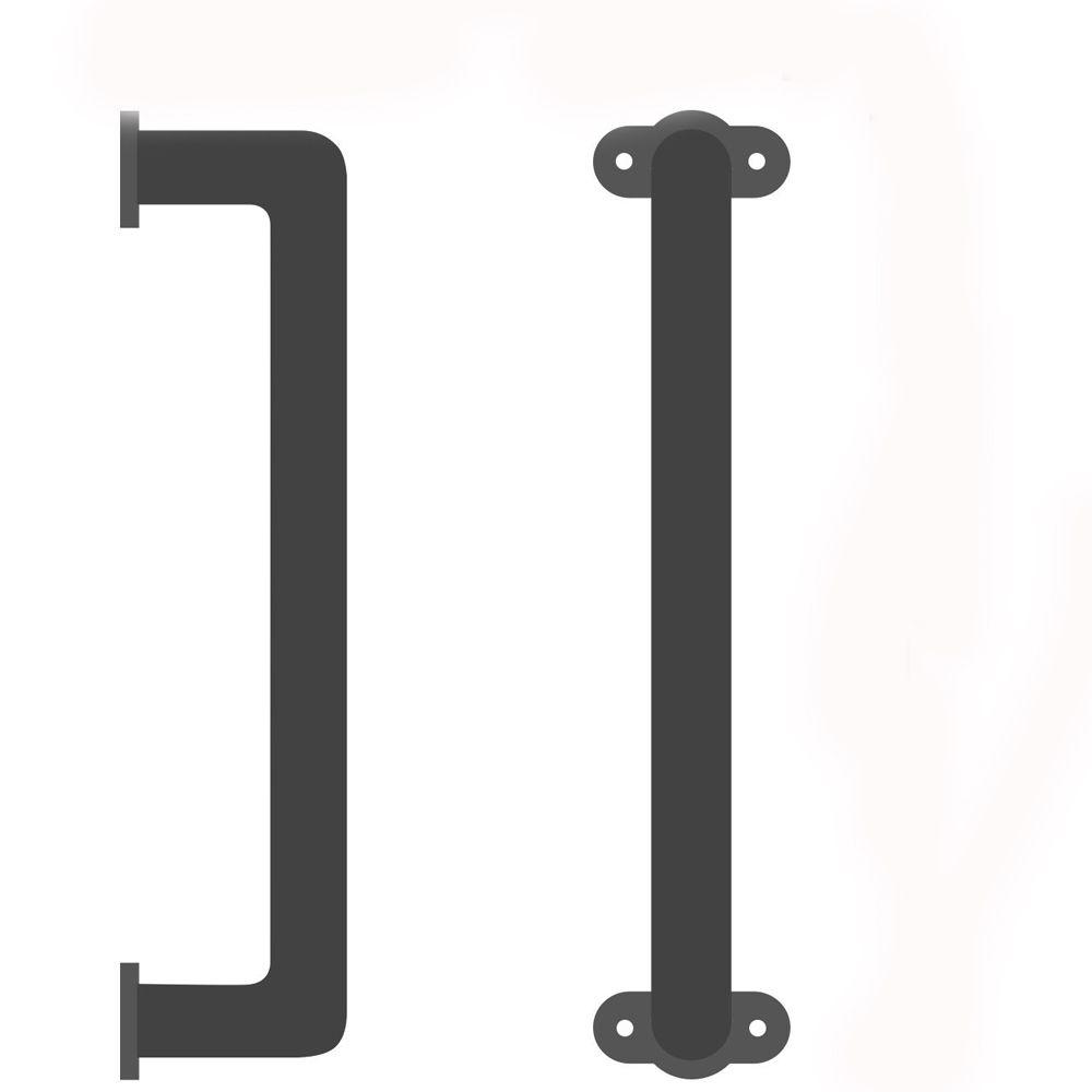 Kinmade انزلاق حظيرة الباب مقبض الدرابزين الاستيلاء على شريط أنيق الحديد مع الانتهاء الأسود لخزائن خزائن