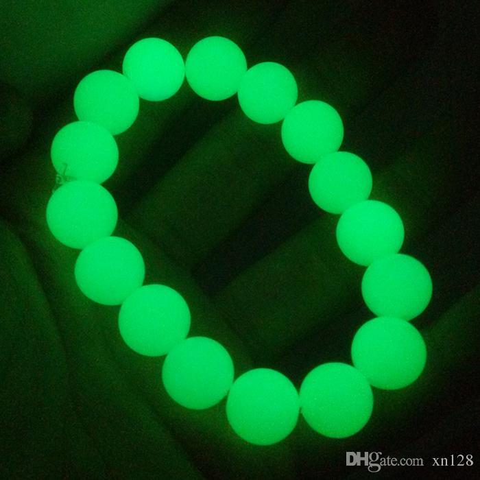 Natürliches Fluorit leuchtendes Perlenarmband ursprünglicher Stein Einzelne leuchtende Armbandliebhaber männliche und weibliche Geschenke