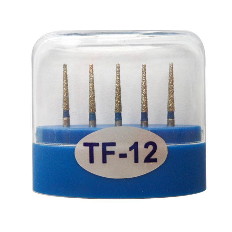 1 paquet (5pcs) fraises diamantées dentaires TF-12 moyen FG 1.6M pour pièce à main dentaire haute vitesse nombreux modèles disponibles