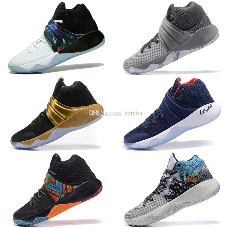 2018 New Irving 2 Basketball Shoes Kyrie Sports Mens Shoes Black Outdoor Trainers Running Shoe Training Sneakers Runner Camping Hiking Boots
