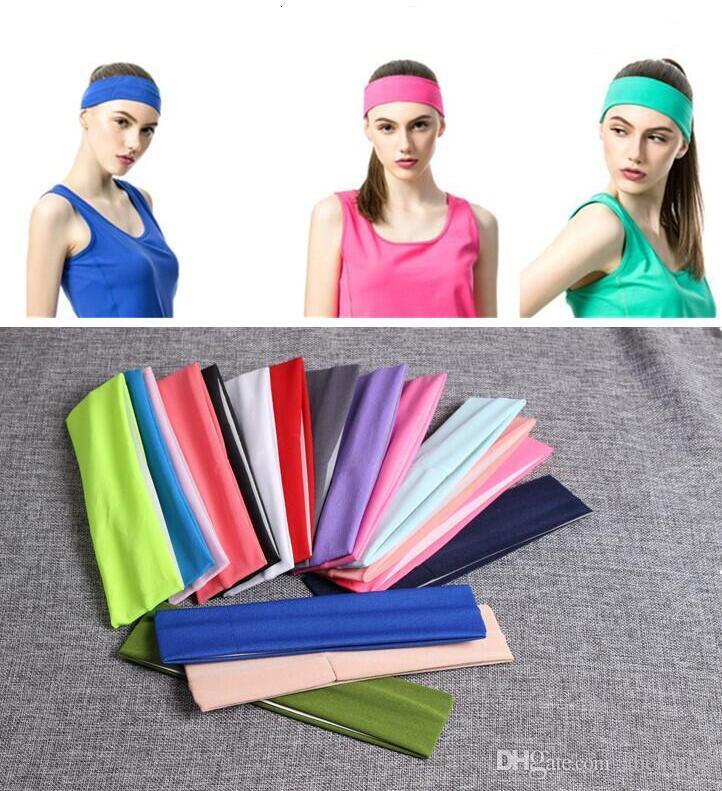 Fashion Yoga Bandanas For Women Stretch Headband Sports Bandana Yoga Hair Band Sweat Head Wrap Unisex High Elastic Bandanas 120 pcs