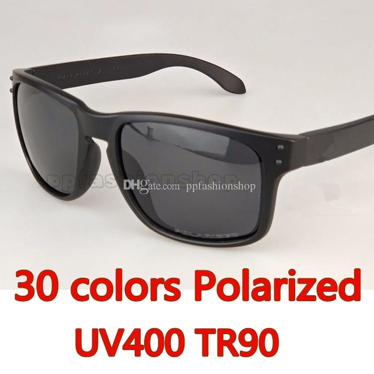 2018 새로운 남자 여성 브랜드 선글라스 디자이너 선글라스 9102 편광 렌즈 선글라스 TR90 그림 프레임 스포츠 운전 안경 30 색