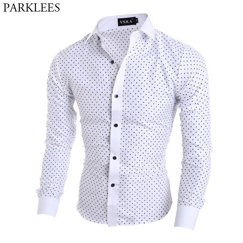 Vska Mens Regular Fit Long Sleeve Formal Solid Button Down Shirt
