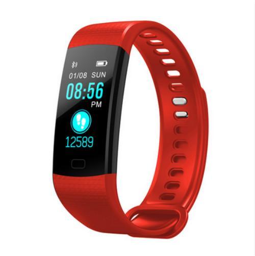 6 colour Y5 Smart Band Heart Rate Tracker Fitness Tracker Smartband Smart Bracelet Waterproof Wristband Smart Watch Men