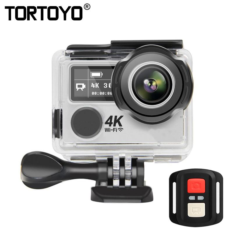 "K9X Action Camera 4K 30Fps 1080P HD 2.0"" Dual Screen Waterproof Underwater Sports DV Wifi Remote Control Fisheye Lens Wide Angle"