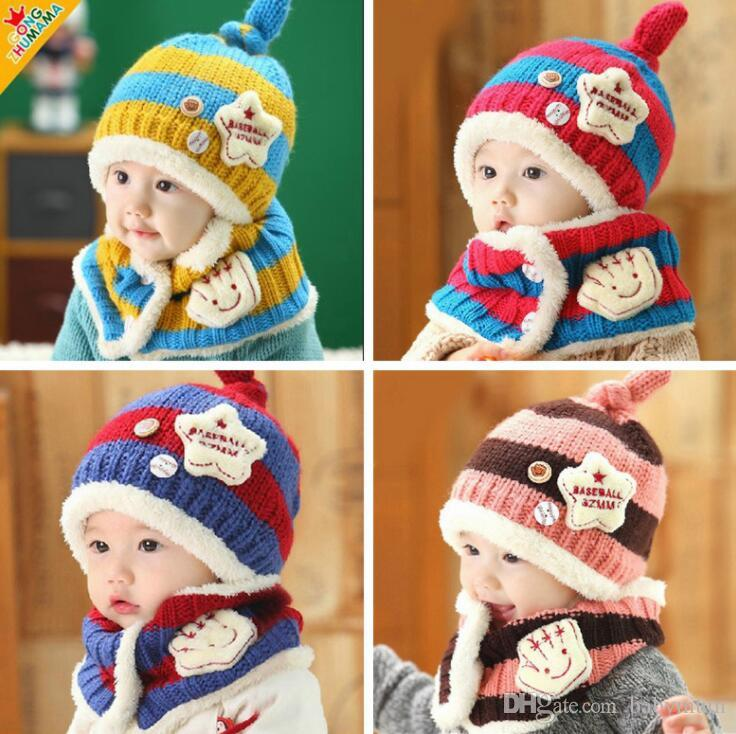 Festival Christmas baby warm hat lovely rabbit beanie korean style unique fleece toddler caps newborn hat scarf set for 6-36month boys girls