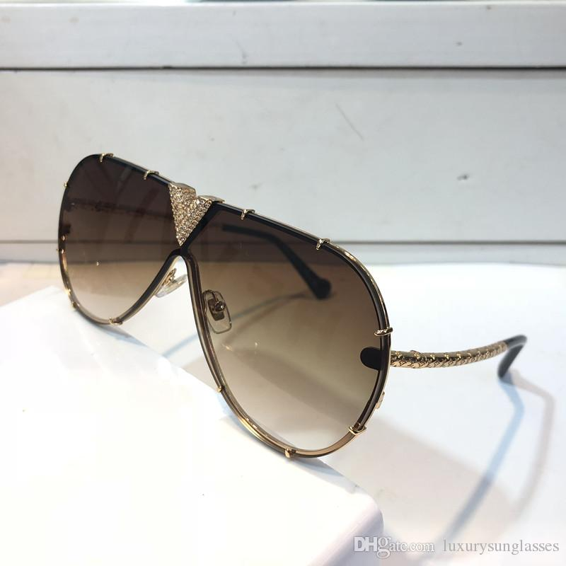 MILLIONAIRE Z1060 Sunglasses With Little Stones Retro Vintage Designer Sunglasses Shiny Gold Summer Style Laser 1060 Gold Plated Top quality