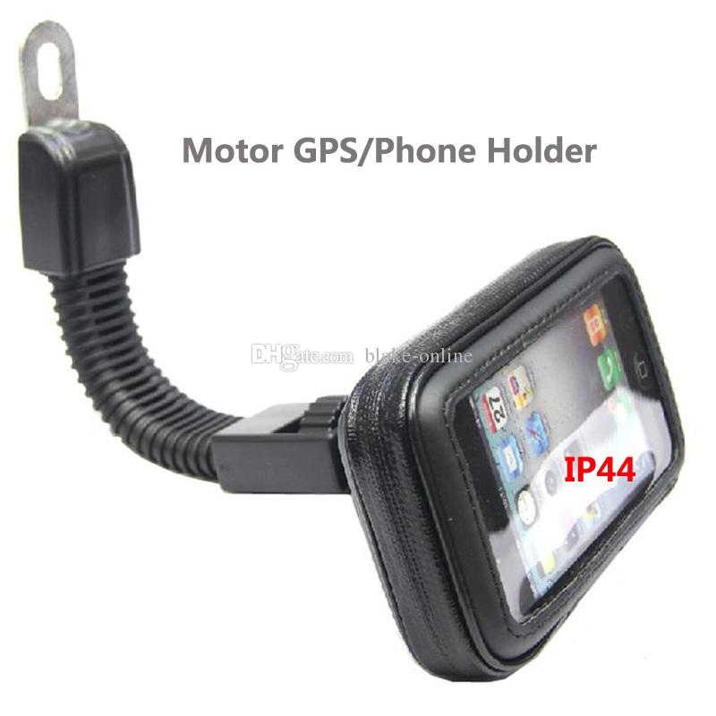 Motor Mobile Phone Case Holder 360 Rotating Stand Motorcycle Rear View Mirror Holder for Car GPS iPhoneX 7 7S 8 Plus Samsung