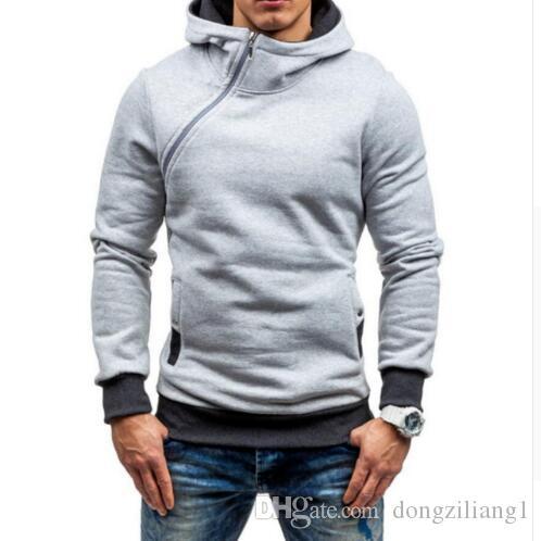 Nouveau Casual Hoodies Hommes Haute Qualité Hommes Hoodie Sweat À Manches Longues Slim À Capuche Veste Manteau Homme Sportswear Taille