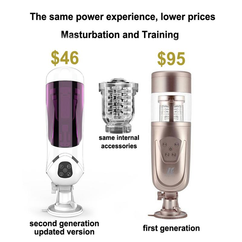 NEW Telescopic Masturbation Cup Electric Automatic Sex Machine Rotating Retractable Male Masturbator Hands Free Sex Toys for Men Y18982802