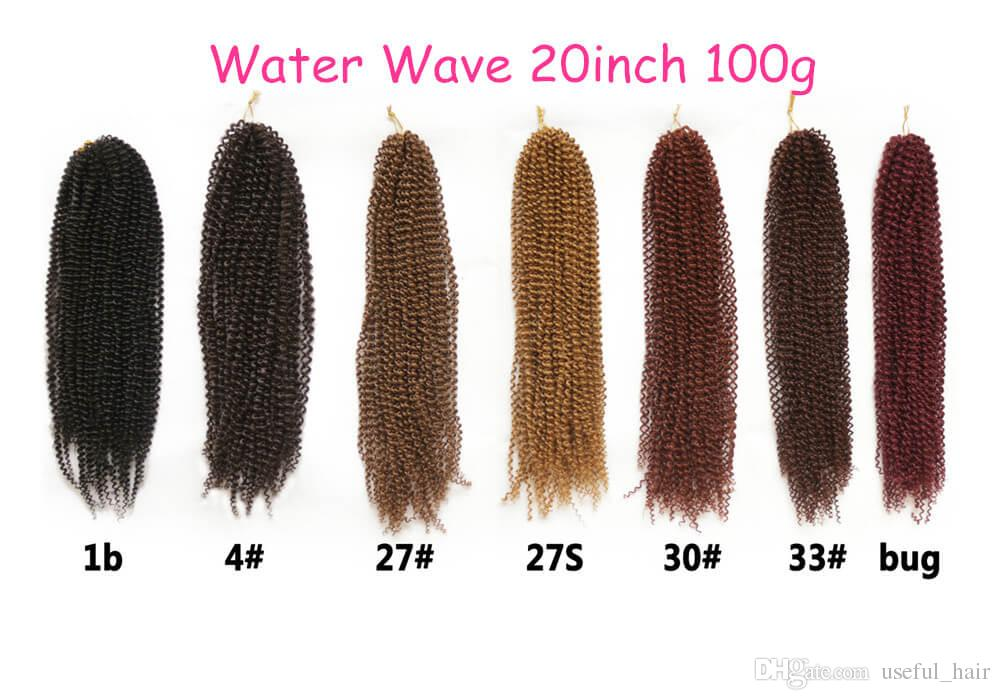 Mothers' Day Water wave Free tress hair extensions 20 inch synthetic crochet hair extensions marley synthetic braiding hair for black women