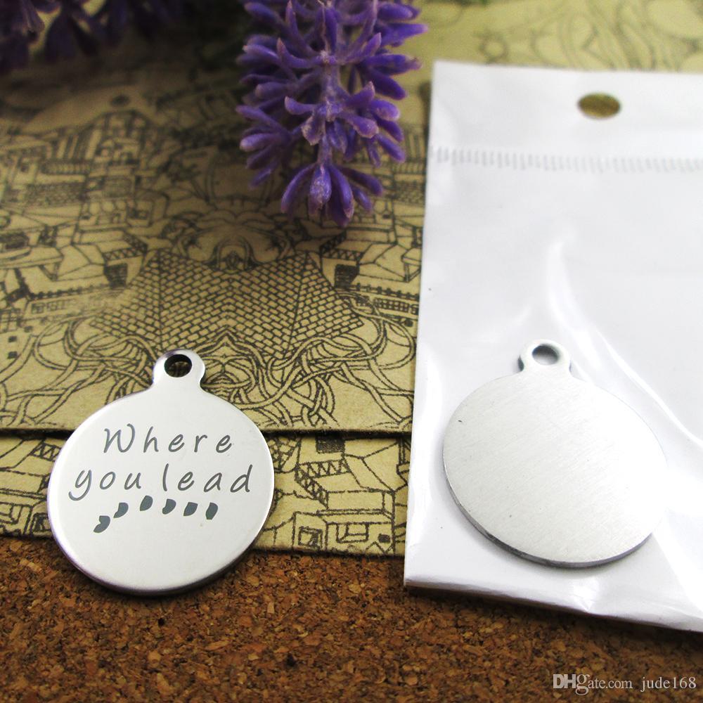 40шт - «Где вы привести» прелесть нержавеющей стали больше стиля для выбора DIY очаровывает подвески для ожерелья