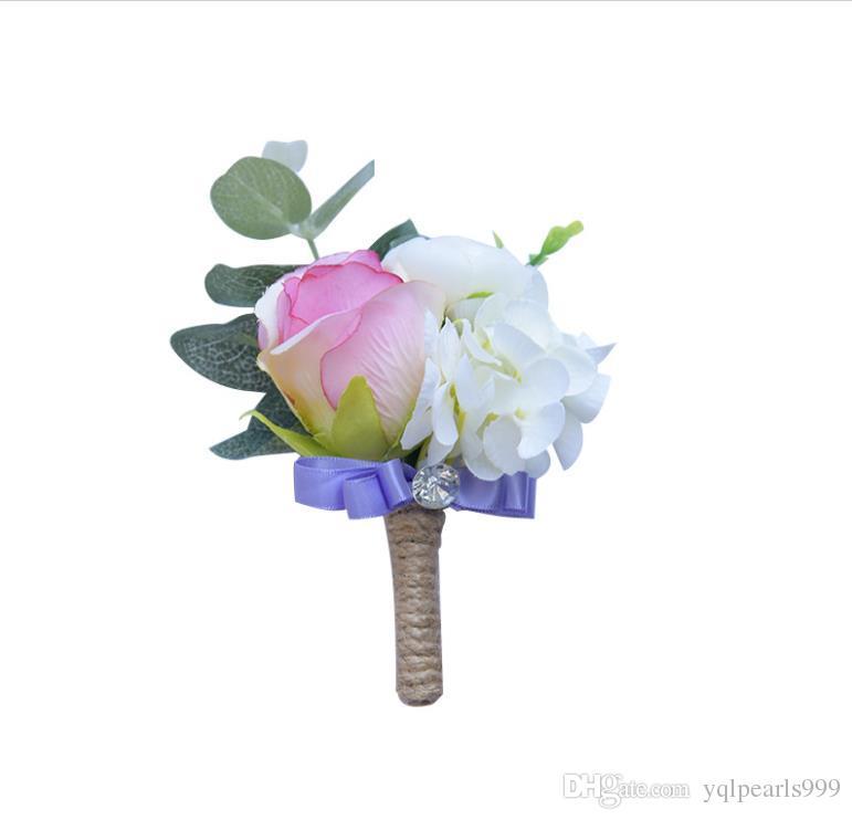 Ebedi melek, pembe broş, düğün aksesuarları, bilek çiçekleri, broşlar.