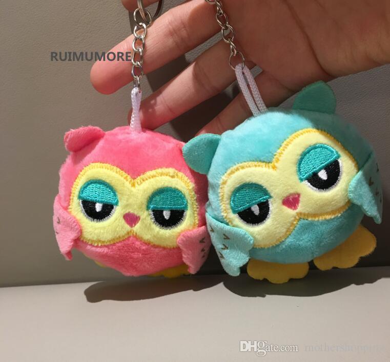 9Cm key chain toys plush stuffed animal owl toy small pendant dolls party giftXN