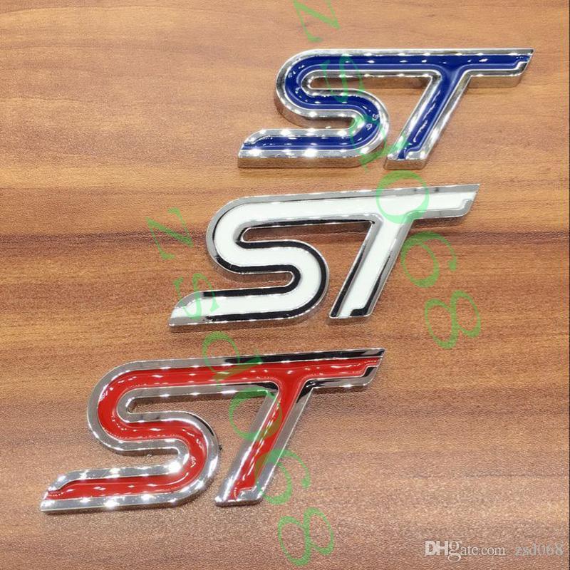 1 배 WHITE BLUE RED ST 자동차 엠블럼 배지 스티커 포드 페스티 몬 초점 DIY를 들어 자동차 스타일링