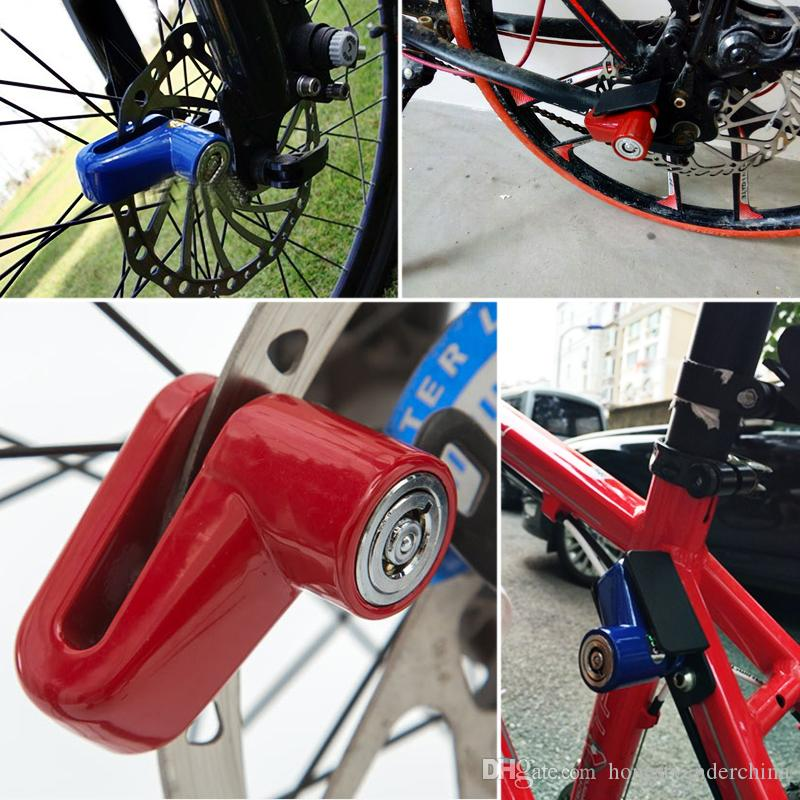 Bicycle Cable lock 2 Keys Security Safety Anti Theft color red UK