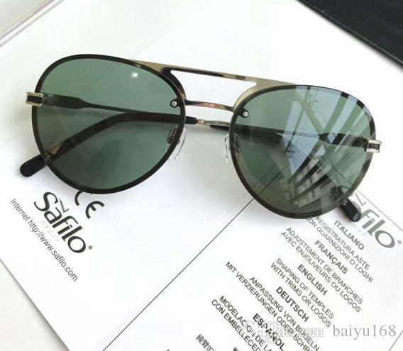 717S Pilot lunettes de soleil polarisées noir / vert lentille verres transparents Mens lunettes de soleil de luxe design nuances lunettes New avec boîte