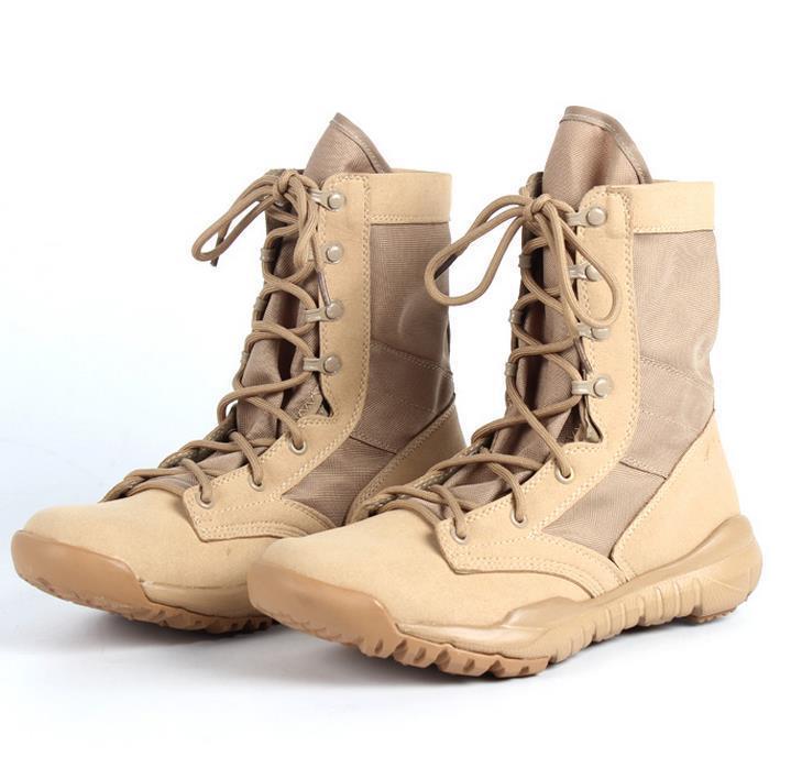 뜨거운 새로운 초경량 남자 육군 장화 군사 신발 전투 전술 발목 남자에 대 한 부츠 사막 / 정글 부츠 레저 스포츠 신발 크기 38-46