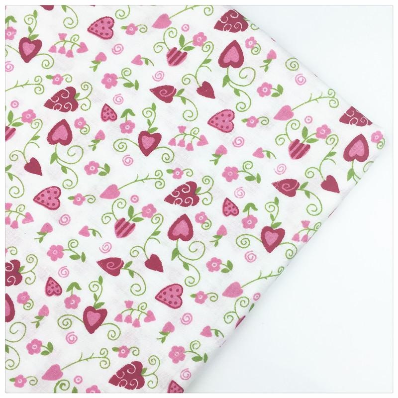 Flower Vine Print Cotton Fabric DIY Sewing Needlwork Material Home textile The Cloth Curtain Patchwork Tissue Syunss