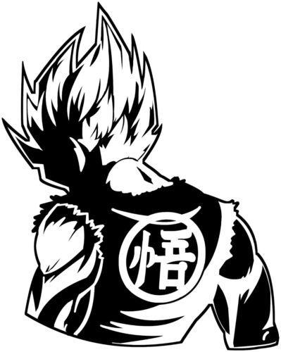 Decal Vinyl Truck Car Sticker DBZ Dragon Ball Z Just Saiyan Goku