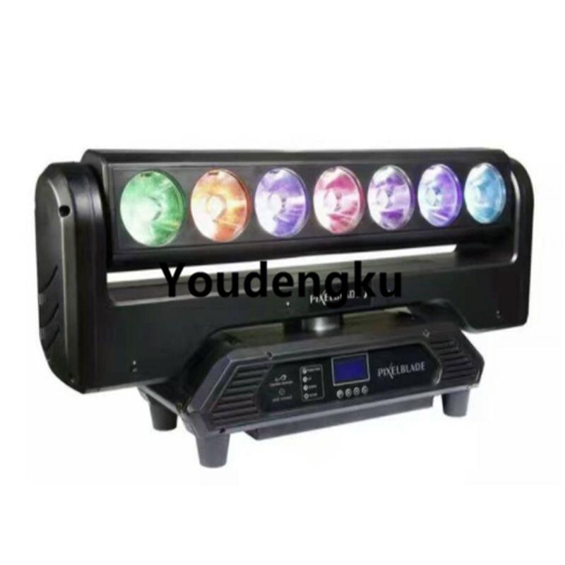 7 * 15W LED faisceau tête mobile pixel lame lame faisceau barre tête mobile rgbw 7 yeux led tête mobile