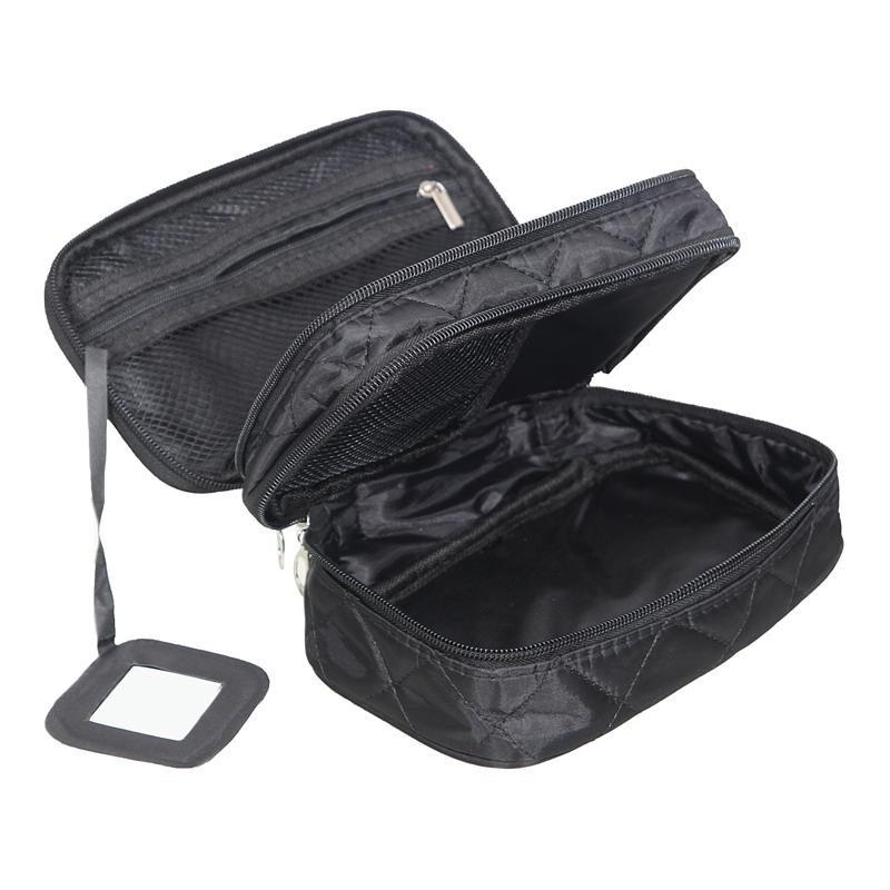 Mihawk Double Layer Cosmetic Bag Com Um Espelho Organizador de Viagem Funcional Maquiagem Bolsa de Higiene Pessoal Escova Vaidade Caso Acessórios Para As Mulheres