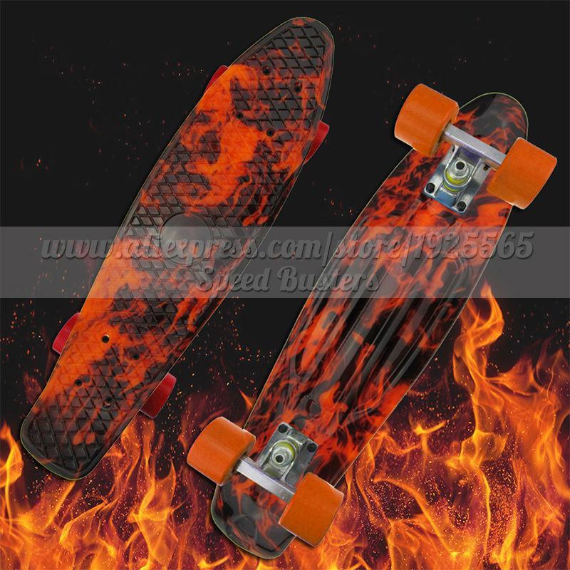 Envío gratis profesional completa Skateboard kaykay paten 22 griptape Retro Mini Skate longboard crucero longboard ruedas