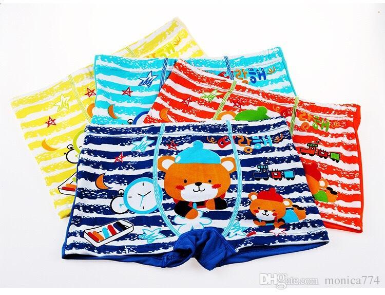 INS HOT SALE!Children Girls Boys Cartoon Bear Boxers Baby Girls Modal Cotton Bunny Underwear Boys Cute Cars Ultraman Monkey Fiber Panties U2