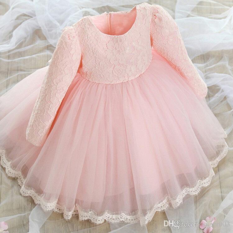 Outono Princesa Do Vintage Estilo 1 Ano Menina Vestido de Aniversário Do Bebê Lace Big Bow Meninas Vestido de Festa Crianças Dos Miúdos Da Menina Da Criança Roupas