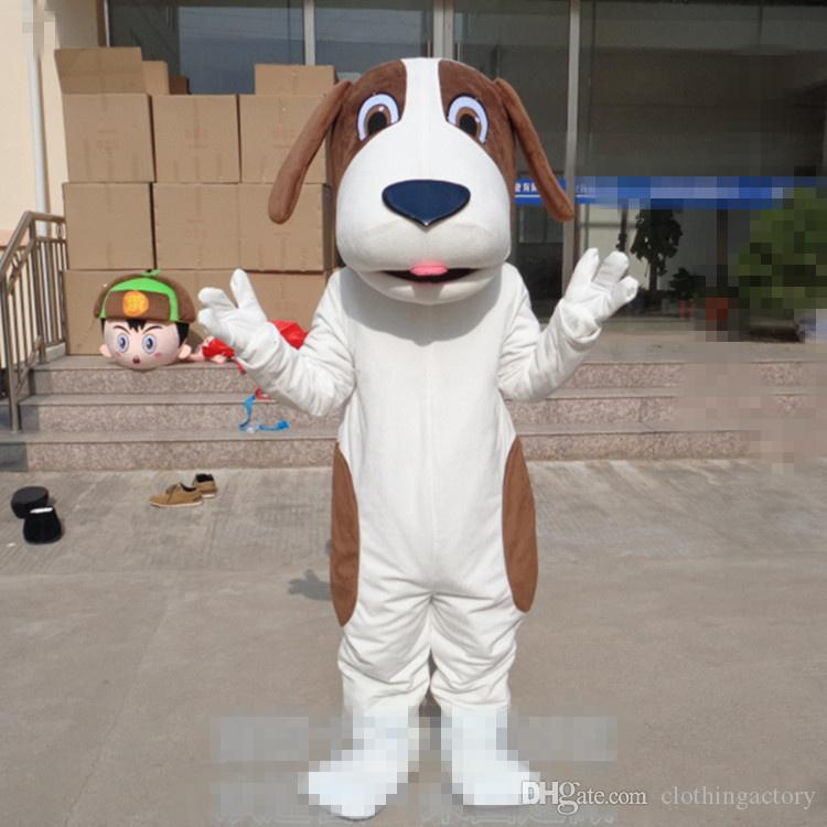 Erwachsene Größe Cartoon Hund Maskottchen Spotty Hund Hund benutzerdefinierte Phantasie Kostüm Kit Maskottchen Thema Kostüm carniva Kostüm