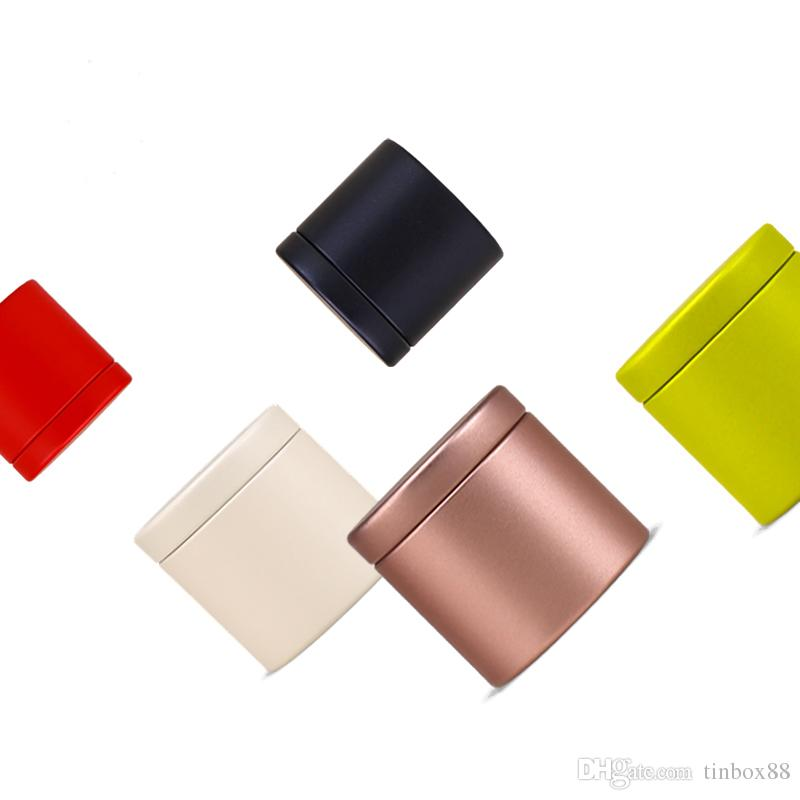 Dia47X45mm Round Mini lovely tea tin box hot-selling sealed caddy office home storage metal box 100pcs/lot