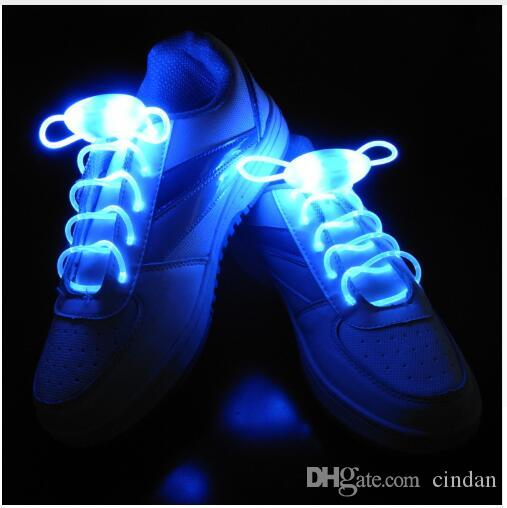 New Novelty Lights 1 Pair Creative Led Shoelace 3 Modes Luminous Shoe lace Skating Running Flash Light Party Holiday Lights