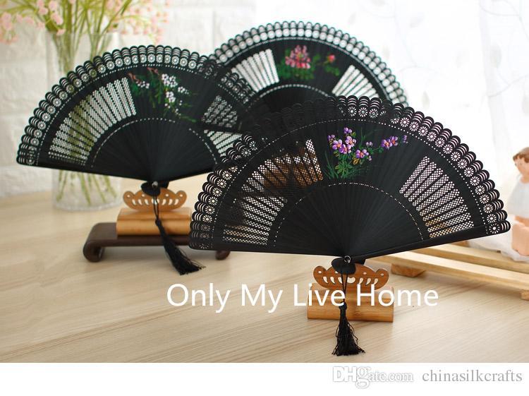 Hand-painted Openwork Craft Gift Fan Full Bamboo Handheld Mini Portable Fan Decorative Luxury Chinese Folding Fan