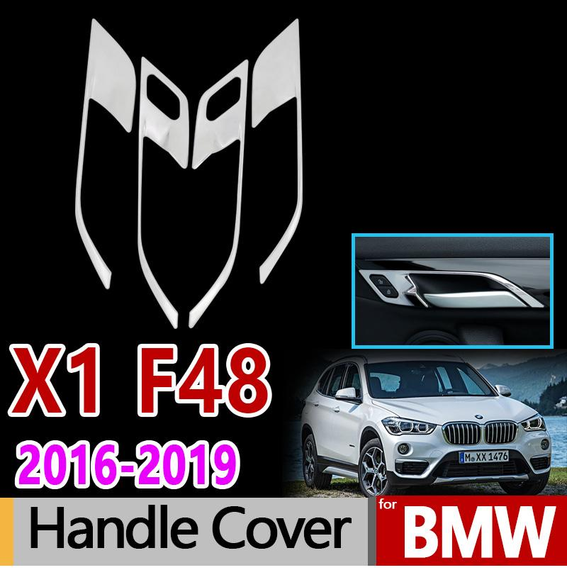 for BMW F48 X1 Stainless Steel Internal Handle Cover Car Accessories Stickers 2016-2019 sDrive xDrive 18d 18i 20i 20d 25d 28i
