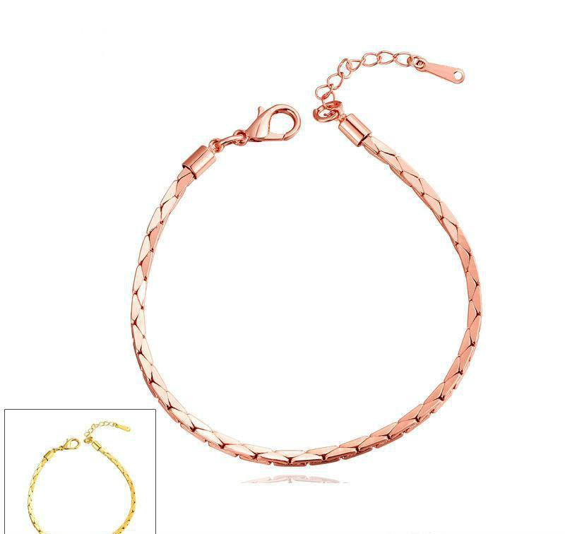 Bracciale bangle per donna Bracciale oro europeo per uomo Bracciale per donna personalizzato Infinity oro rosa Bracciale oro rosa 18 carati