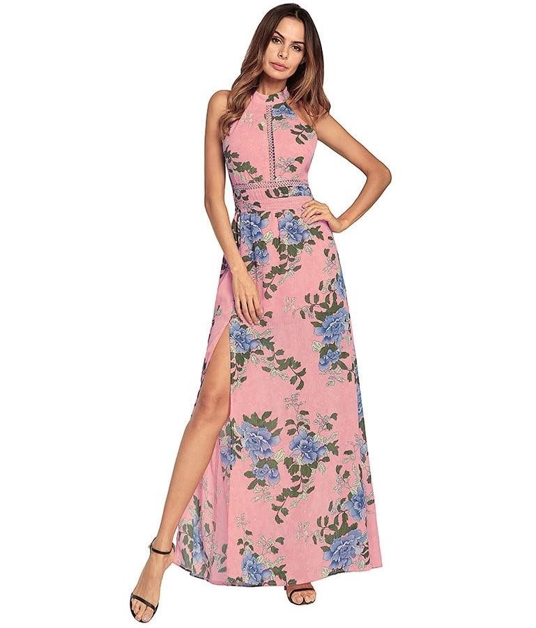 Printing Round Neckwomen Dress 2018 Summer New Ladies Clothing ...